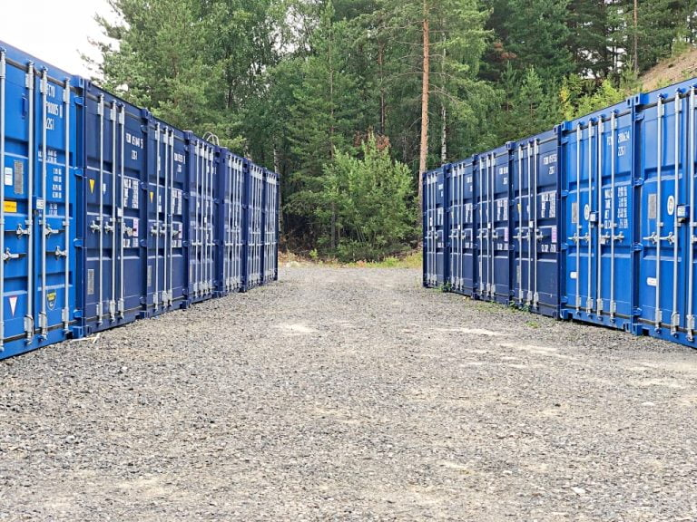 Minilager med lagercontainer Kongsberg